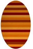 rug #107368   oval stripes rug