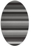rug #107377 | oval red-orange rug