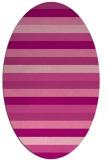 rug #107385 | oval pink retro rug