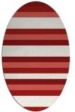 rug #107425 | oval red stripes rug