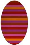 rug #107429 | oval pink rug