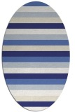 rug #107457 | oval blue retro rug