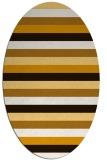 rug #107473   oval brown retro rug