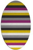 rug #107477 | oval white stripes rug