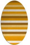 rug #107513 | oval light-orange retro rug