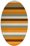 rug #107521 | oval light-orange retro rug