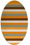 rug #107524 | oval retro rug