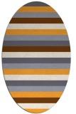 rug #107525 | oval white stripes rug