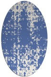 rug #1077826 | oval blue graphic rug