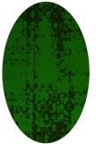 rug #1077838 | oval green traditional rug