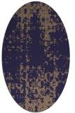 rug #1077886 | oval beige graphic rug