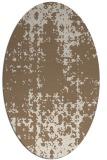 rug #1077934 | oval beige faded rug