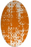 rug #1077986 | oval orange faded rug