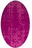 rug #1077998 | oval pink graphic rug