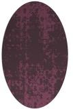 rug #1078014 | oval purple rug