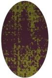 rug #1078018 | oval purple rug