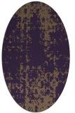 rug #1078022 | oval purple faded rug