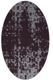 rug #1078026 | oval purple graphic rug