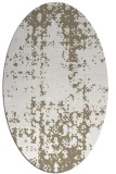 rug #1078090 | oval white faded rug