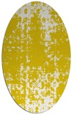 rug #1078102 | oval white faded rug