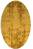 rug #1078106 | oval yellow traditional rug