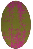 rug #1078122 | oval light-green faded rug
