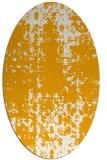 rug #1078130 | oval light-orange graphic rug