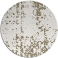 rug #1078826 | round white faded rug