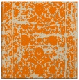 rug #1079250 | square orange damask rug