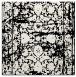 rug #1079254 | square white damask rug