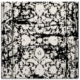 rug #1079254 | square black damask rug