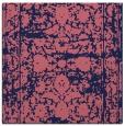 rug #1079346 | square blue-violet damask rug