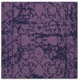 rug #1079350 | square blue-violet damask rug