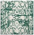 rug #1079386 | square green damask rug