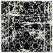 rug #1079394   square black damask rug