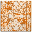 rug #1079458 | square orange damask rug