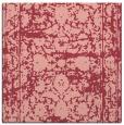rug #1079478 | square pink damask rug