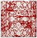 rug #1079502 | square red damask rug