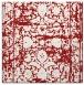 rug #1079510 | square red damask rug