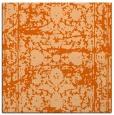 rug #1079522 | square red-orange traditional rug