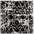 rug #1079538 | square white damask rug