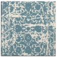 rug #1079558 | square blue-green damask rug