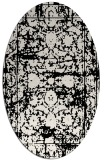 rug #1079622 | oval white faded rug