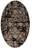 rug #1079630 | oval beige damask rug