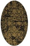 rug #1079646 | oval brown damask rug