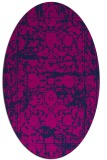 rug #1079654 | oval blue faded rug