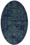 rug #1079658 | oval blue damask rug