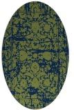 rug #1079662 | oval green damask rug