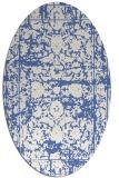 rug #1079666 | oval blue faded rug