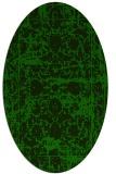 rug #1079678 | oval green damask rug